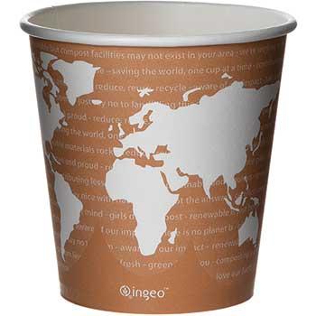 World Art Renewable & Compostable Hot Cups - 10 oz., 50/PK, 20 PK/CT