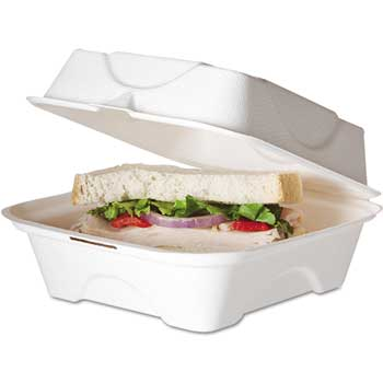 "Clamshell Take Out Box, 8"" x 8"", 200/CT"
