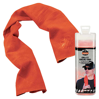 ergodyne® Chill-Its® 6602 Evaporative Cooling Towel, Orange