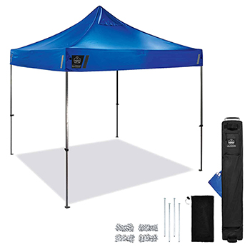 Shax® 6000 Heavy-Duty Commercial Pop-Up Tent, 10' X 10', Blue