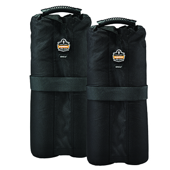 Shax® 6094 Tent Weight Bags, Black, Set Of 2