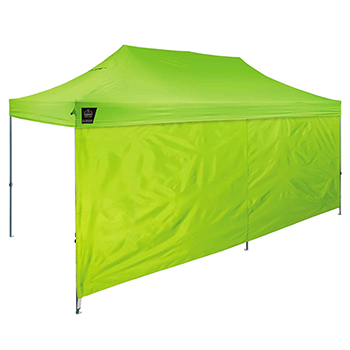 Shax® 6097 Pop-Up Tent Sidewalls - 10' X 20', Hi-Vis Lime