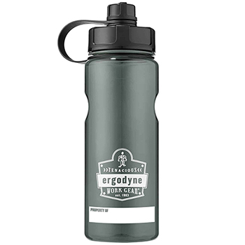 Chill-Its® 5151 1 ltr Black Plastic Wide Mouth Water Bottle