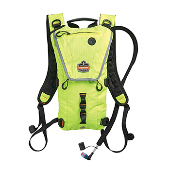 ergodyne® Chill-Its® 5156 3 ltr Hi-Vis Lime Premium Low Profile Hydration Pack