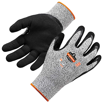 ergodyne® ProFlex® 7031 S Gray Nitrile-Coated Cut-Resistant Gloves A3 Level