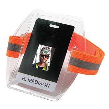 ergodyne® Squids® 3386 Hi-Vis Orange Arm Band ID/Badge Holder