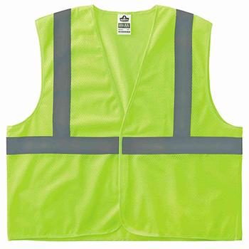 ergodyne® Glowear® 8205Hl Type R Class 2 Super Econo Mesh Vest, Small/Medium, Hi-Vis Lime