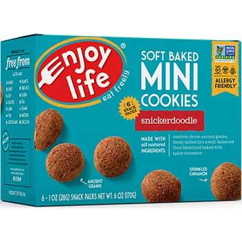 Enjoy Life® Allergy Friendly Snickerdoodle Soft Baked Mini Cookies, 1 oz. Bags, 6 BG/BX, 6 BX/CT