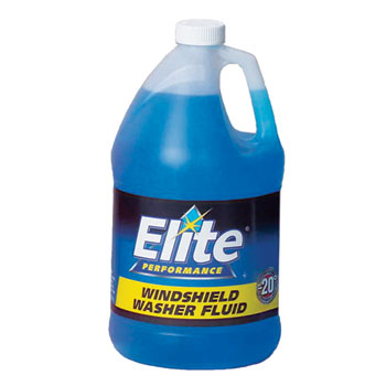 Elite Windshield Washer Fluid, -20°F, 1 gal. Bottle, Unscented, 6/CT