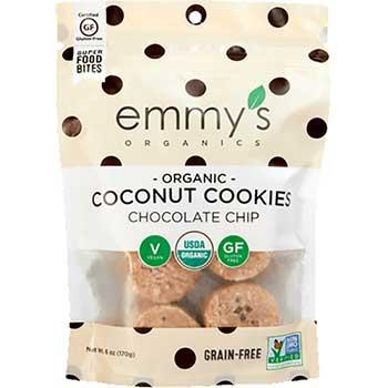 Emmy's Organics Chocolate Chip Cookies, 6 oz., 8/BX
