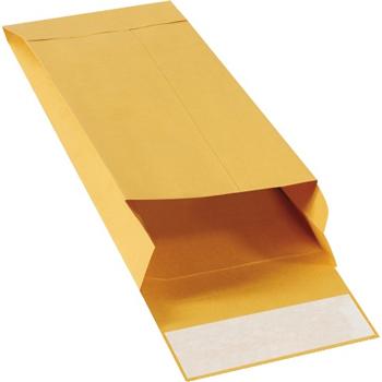 """W.B. Mason Co. Expandable Self-Seal Envelopes, 5"""" x 11"""" x 2"""", Kraft, 100/CS"""