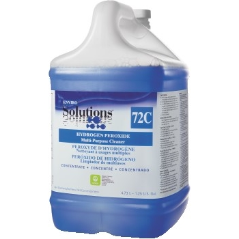 Enviro Solutions Hydrogen Peroxide Multi-Purpose Cleaner, Floral Scent, 1.25 Gal Bottle, 2/CT