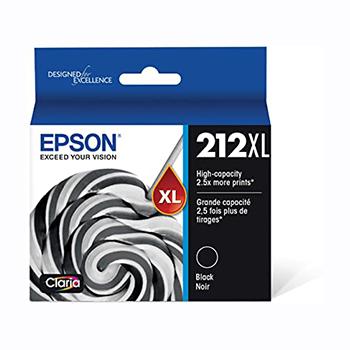 Epson® T212 Ink Cartridge - Black - Inkjet - High Yield