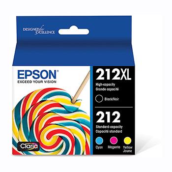 Epson® T212 Ink Cartridge - Color, Black - Inkjet - High Yield