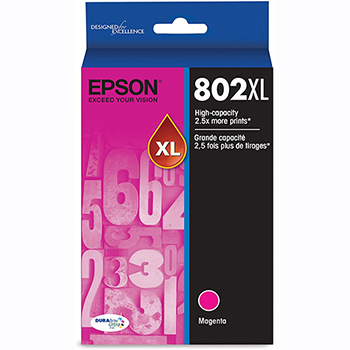Epson® DURABrite Ultra 802XL Ink Cartridge - Magenta - Inkjet - High Yield - 1900 Pages - 1 Pack