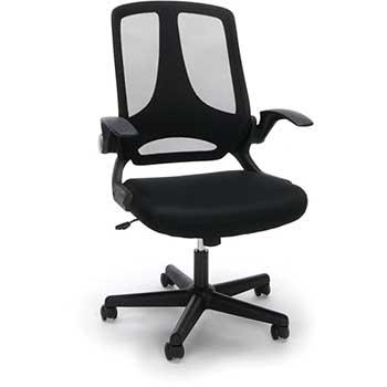 OFM™ Essentials by OFM ESS-3045 Mesh Upholstered Flip-Arm Task Chair, Black