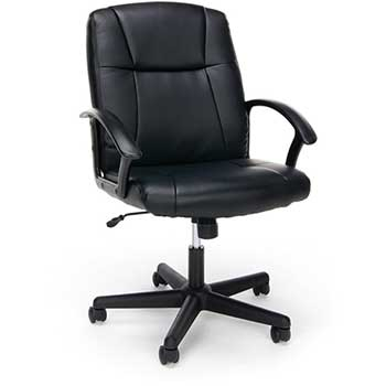 Essentials Leather Executive Office Chair with Arms, Black
