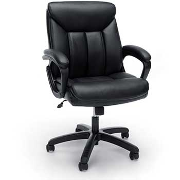 OFM™ Essentials by OFM ESS-6020 Executive Office Chair, Black with Black Frame