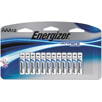 Energizer® Ultimate Lithium Batteries, AAA, 12/Pack