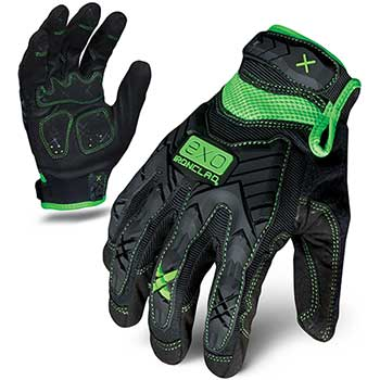 Ironclad Work Gloves, Impact Protection, Green/Black, Medium
