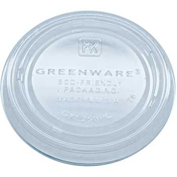 Greenware Plastic Lid for 2 oz. Portion Cup, 2010/CT