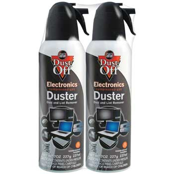 Dust-Off Disposable Compressed Gas Duster, 7 oz Can, 2/PK