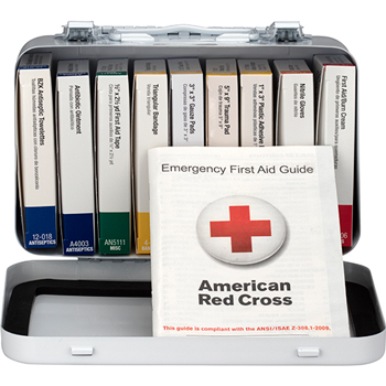 First Aid Only™ Unitized First Aid Kit for 10 People, 10 Units/KT, OSHA/ANSI