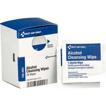 Alcohol Cleansing Pads, 20/Box