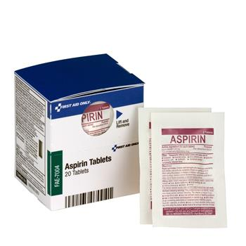 First Aid Only™ SmartCompliance Aspirin Refill, 2/Packet, 10 Packet/Box
