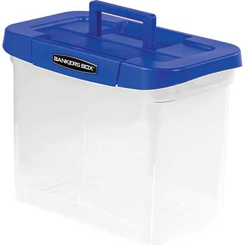 """Bankers Box® Heavy Duty Plastic File Storage, 14 1/4"""" x 8 3/5"""" x 11"""", Clear"""