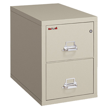 """25"""" Deep Insulated Two-drawer File Cabinet, Legal Size, Parchment"""
