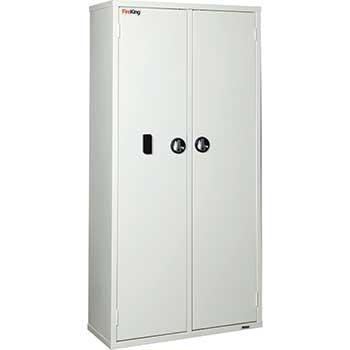 "Medical Storage Cabinet, Electronic Lock, 72""h"