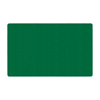 Flagship Carpets Solid Rectangle Rug, Clover Green, 4' x 6'