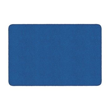 Flagship Carpets Solid Rectangle Rug, Royal Blue, 4' x 6'