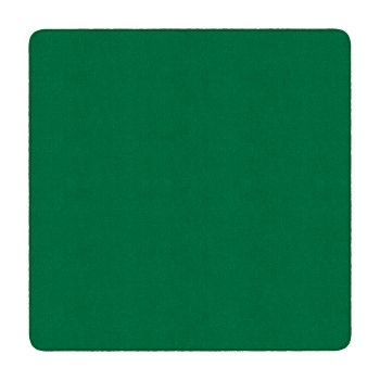 Flagship Carpets Solid Square Rug, Clover Green, 6' x 6'