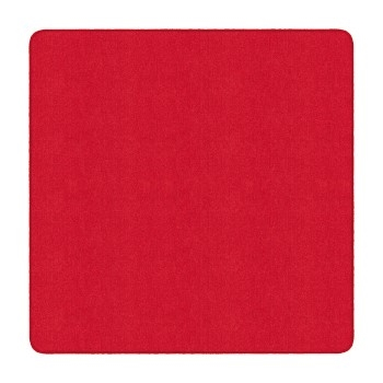 Flagship Carpets Solid Square Rug, Rowdy Red, 6' x 6'