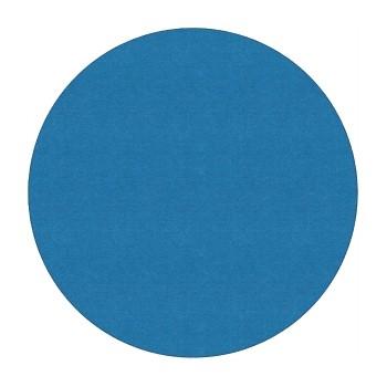 Flagship Carpets Solid Round Rug, Blue Bird, 6'