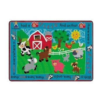 Flagship Carpets Printed Infant Toddler Rug, Rectangle, 4' x 6'