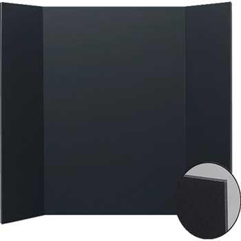 """Flipside Project Board, Foam, 36"""" X 48"""", Black, 10/CT"""
