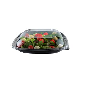 Fineline® Dome Lid For Large Square Bowls PET, Clear, 150/CS