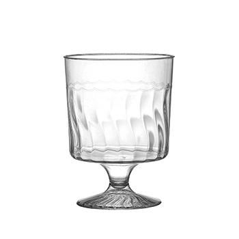 Fineline® 1 Piece 5.5 oz. Wine Glass, Clear, 240/CS