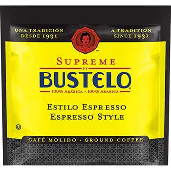 Café Bustelo Supreme by Bustelo® Espresso Style Coffee Pods, 0.38 oz., 18/BX, 6 BX/CT