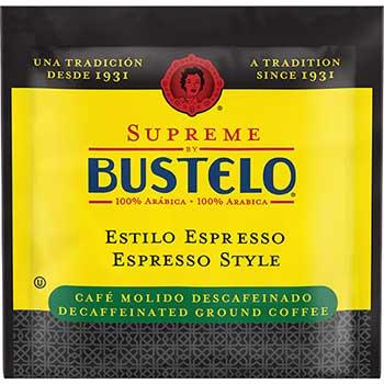 Café Bustelo Supreme by Bustelo® Espresso Style Decaf Coffee Pods, 0.38 oz., 18/BX