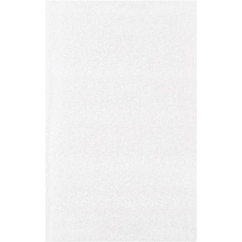 "Flush Cut Foam Pouches, 5"" x 8"", White, 400/CS"