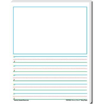 Teacher Created Resources Smart Start Story Paper, Grade 1-2, 100 Sheets/PK