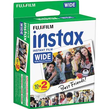 Fujifilm Instax Wide Film Twin Pack, 800 ASA, 20-Exposure Roll