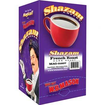 Shazam™ Coffee Pods, French Roast, Dark Roast, 15/BX