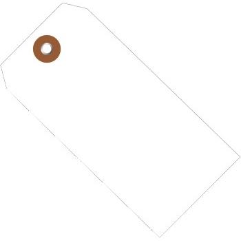 """W.B. Mason Co. Plastic Shipping Tags, 4 3/4"""" x 2 3/8"""", White, 100/CS"""