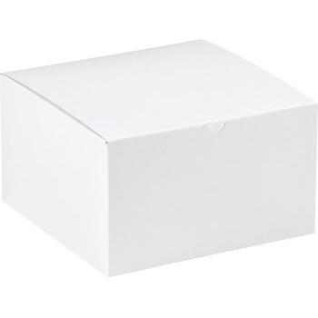 """Gift boxes, 7"""" x 7"""" x 7"""", White, 100/CS"""