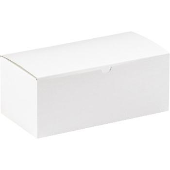"W.B. Mason Co. Gift boxes, 10"" x 5"" x 4"", White, 100/CS"